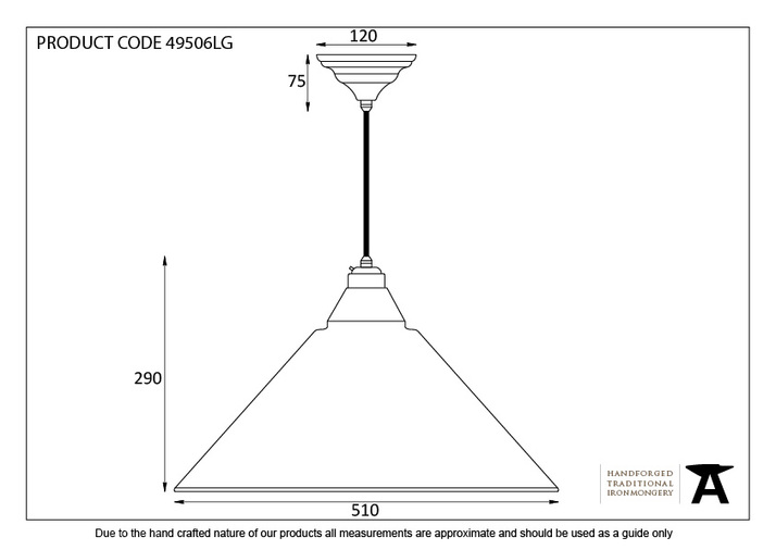 From The Anvil Light Grey Smooth Nickel Hockley Pendant 49506LG Image 3