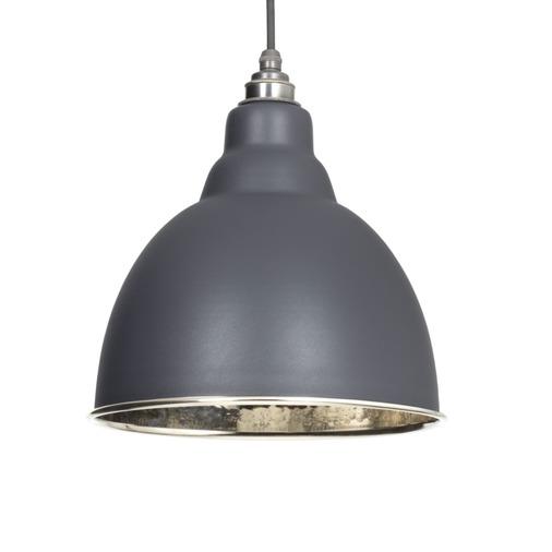 From The Anvil Dark Grey Hammered Nickel Brindley Pendant 49511DG  Image 1
