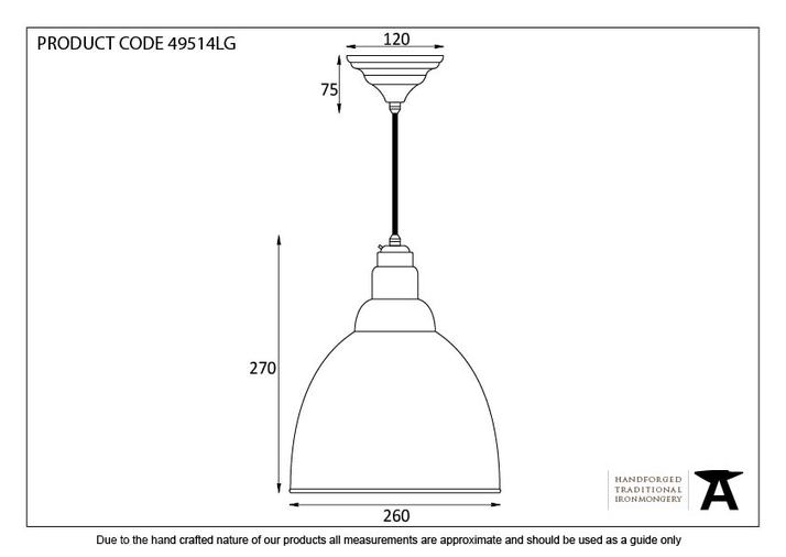 From The Anvil Light Grey Full Colour Brindley Pendant 49514LG Image 2