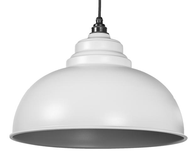 From The Anvil Light Grey Full Colour Harborne Pendant 49515LG Image 1