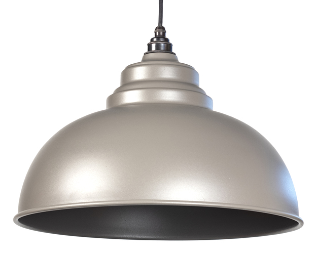 From The Anvil Warm Grey Full Colour Harborne Pendant 49515WG Image 1