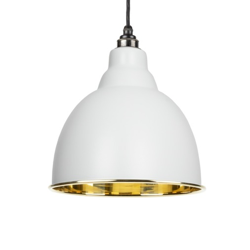 From The Anvil Light Grey Smooth Brass Brindley Pendant 49518LG Image 1