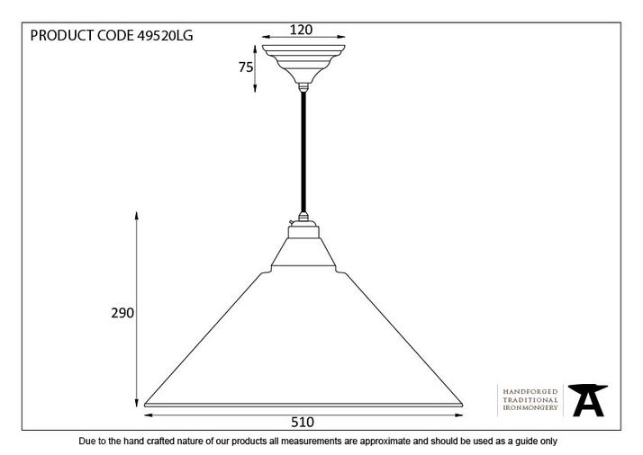 From The Anvil Light Grey Full Colour Hockley Pendant 49520LG Image 2