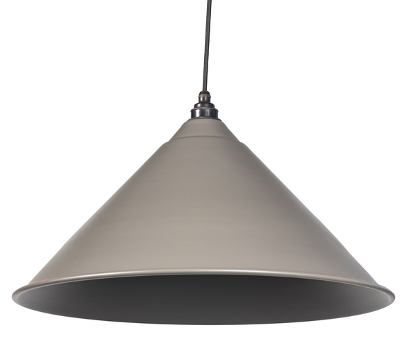 From The Anvil Warm Grey Full Colour Hockley Pendant 49520WG Image 1