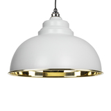 From The Anvil Light Grey Smooth Brass Harborne Pendant 49522LG Image 1 Thumbnail