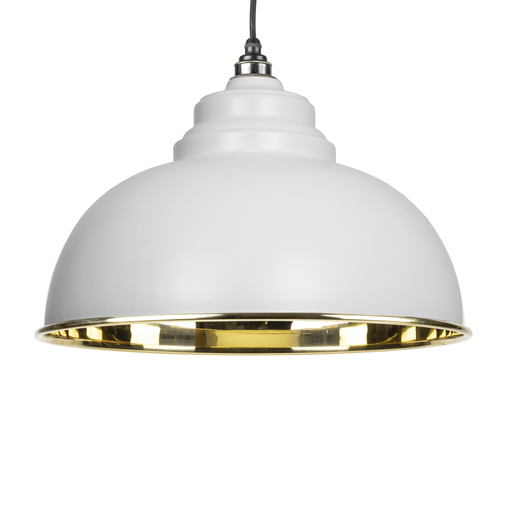 From The Anvil Light Grey Smooth Brass Harborne Pendant 49522LG Image 1