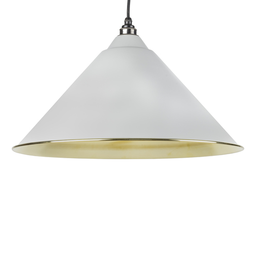 From The Anvil Light Grey Smooth Brass Hockley Pendant 49524LG Image 1