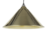 From The Anvil Smooth Brass Hockley Pendant 49524 Image 1 Thumbnail