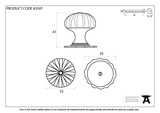 From The Anvil Black Flower Cabinet Knob - Small 83507 Image 3 Thumbnail