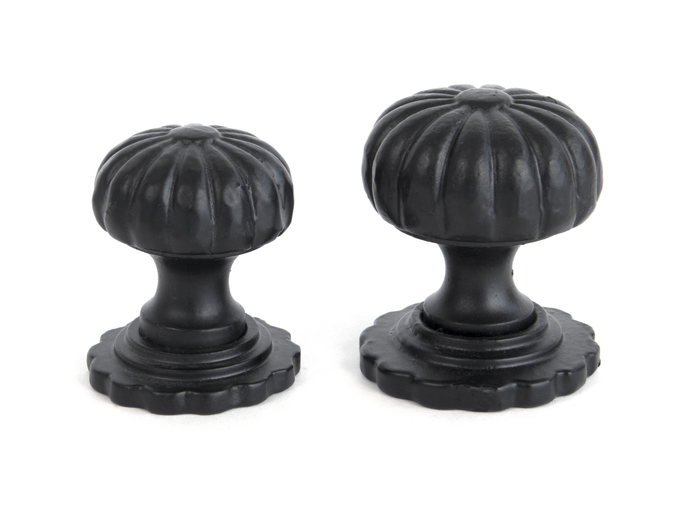 From The Anvil Black Flower Cabinet Knob - Large 83509 Image 2