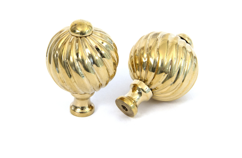 From The Anvil Polished Brass Spiral Cabinet Knob - Small 83550 Image 2