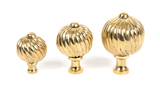 From The Anvil Polished Brass Spiral Cabinet Knob - Small 83550 Image 3 Thumbnail