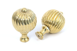 From The Anvil Polished Brass Spiral Cabinet Knob - Large 83552 Image 2 Thumbnail