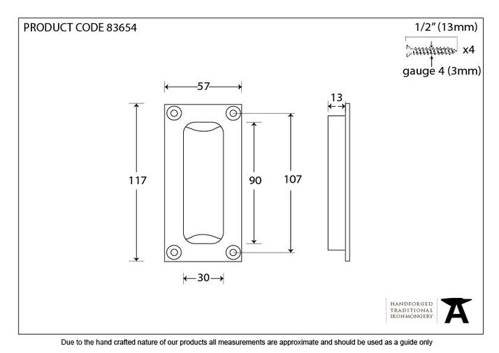 From The Anvil Pewter Flush Handle 83654 Image 3