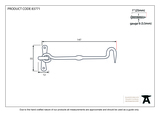From The Anvil Black 6'' Forged Cabin Hook 83771 Image 2 Thumbnail