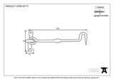 From The Anvil Black 8 Inch Forged Cabin Hook 83777 Image 2 Thumbnail