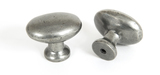 From The Anvil Pewter Oval Cabinet Knob 83787 Image 1 Thumbnail