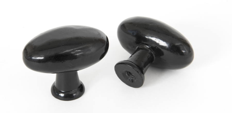 From The Anvil Black Oval Cabinet Knob 83790 Image 1