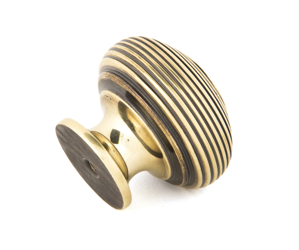 From The Anvil Aged Brass Beehive Cabinet Knob 40mm 83866 Image 2