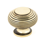 From The Anvil Aged Brass Beehive Cabinet Knob 40mm 83866 Image 1 Thumbnail