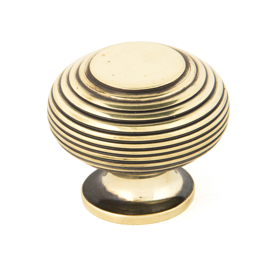 From The Anvil Aged Brass Beehive Cabinet Knob 40mm 83866 Image 1