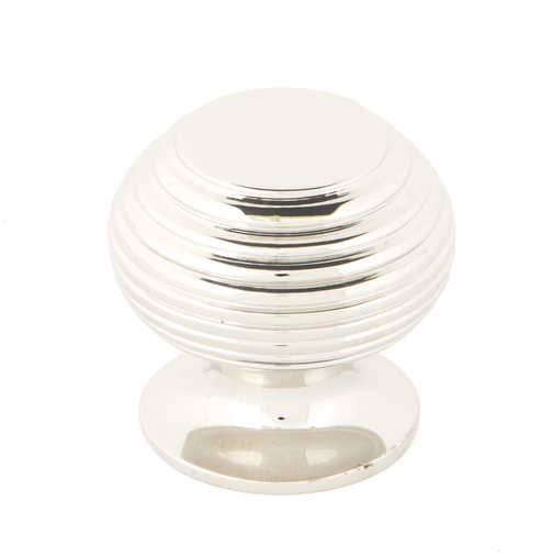 From The Anvil Polished Nickel Beehive Cabinet Knob 30mm 83867 Image 1