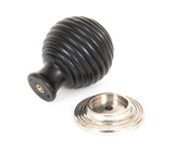 From The Anvil Ebony and PN Beehive Cabinet Knob 38mm 83870 Image 2 Thumbnail