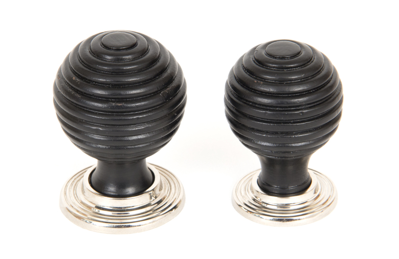 From The Anvil Ebony and PN Beehive Cabinet Knob 38mm 83870 Image 3