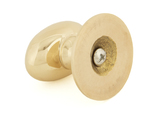 From The Anvil Polished Brass Oval Cabinet Knob 40mm 83879 Image 2 Thumbnail