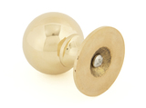 From The Anvil Polished Brass Ball Cabinet Knob 39mm 83881 Image 2 Thumbnail
