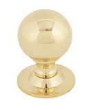 From The Anvil Polished Brass Ball Cabinet Knob 39mm 83881 Image 1 Thumbnail