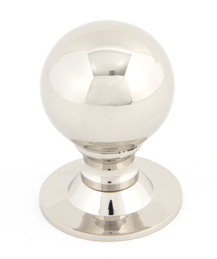 From The Anvil Polished Nickel Ball Cabinet Knob 39mm 83882 Image 1