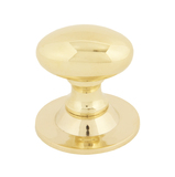 From The Anvil Polished Brass Oval Cabinet Knob 33mm 83885 Image 1 Thumbnail