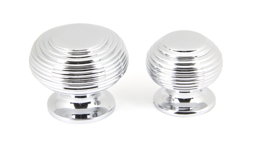 From The Anvil Polished Chrome Beehive Cabinet Knob 40mm 90336 Image 3