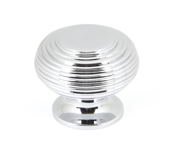 From The Anvil Polished Chrome Beehive Cabinet Knob 40mm 90336 Image 1