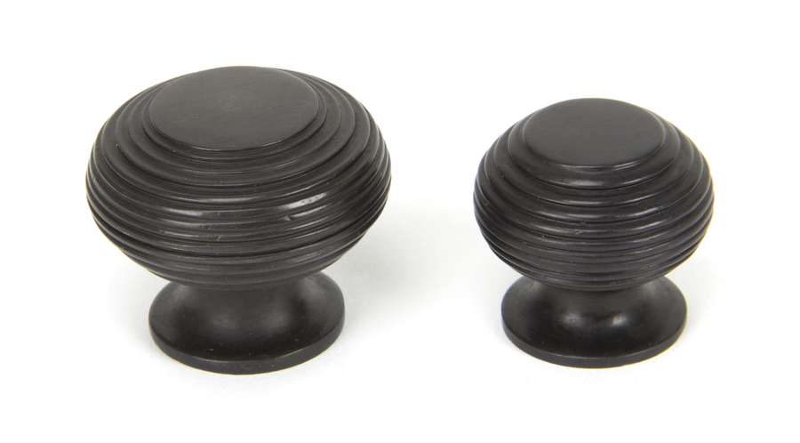 From The Anvil Aged Bronze Beehive Cabinet Knob 40mm 90338 Image 3