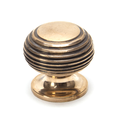 From The Anvil Polished Bronze Beehive Cabinet Knob 30mm 91948 Image 1