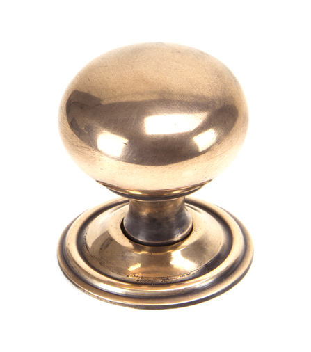 From The Anvil Polished Bronze Mushroom Cabinet Knob 38mm 91949 Image 1