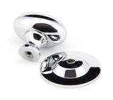 From The Anvil Polished Chrome Oval Cabinet Knob 40mm 92033 Image 2 Thumbnail
