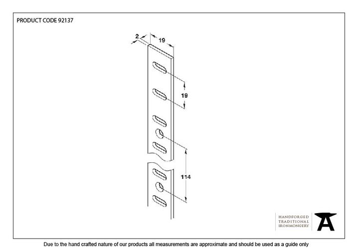 From The Anvil Black Flat Bookcase Strip 1.83m 92137 Image 2