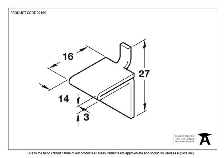 From The Anvil Black Double Stud for Flat Black Bookcase Strip 92160 Image 3