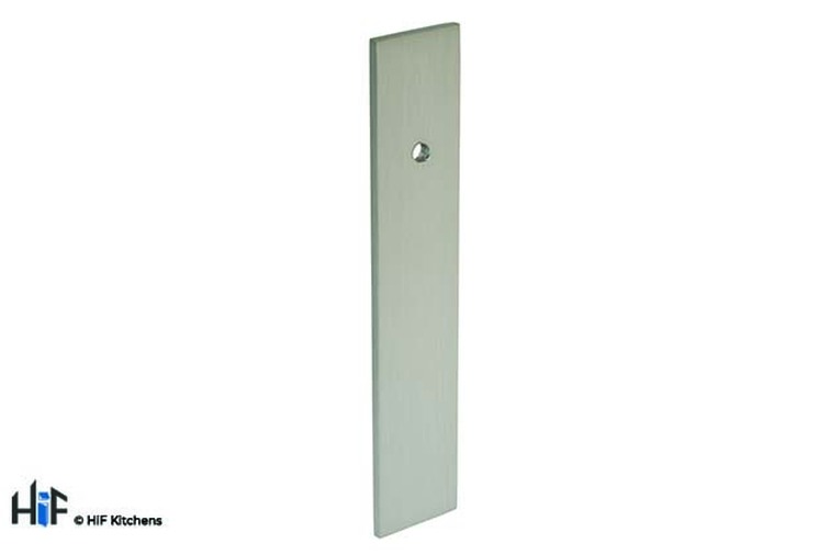 B384.130.SS Kitchen Offset Rectangular Backplate Stainless Steel  Image 1