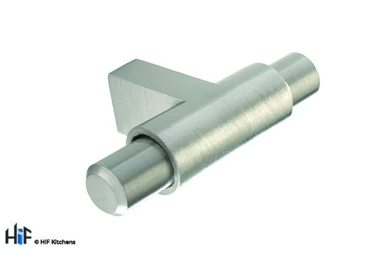 H1003.62.SS Leeming T-Bar Polished Stainless Steel Effect Image 1