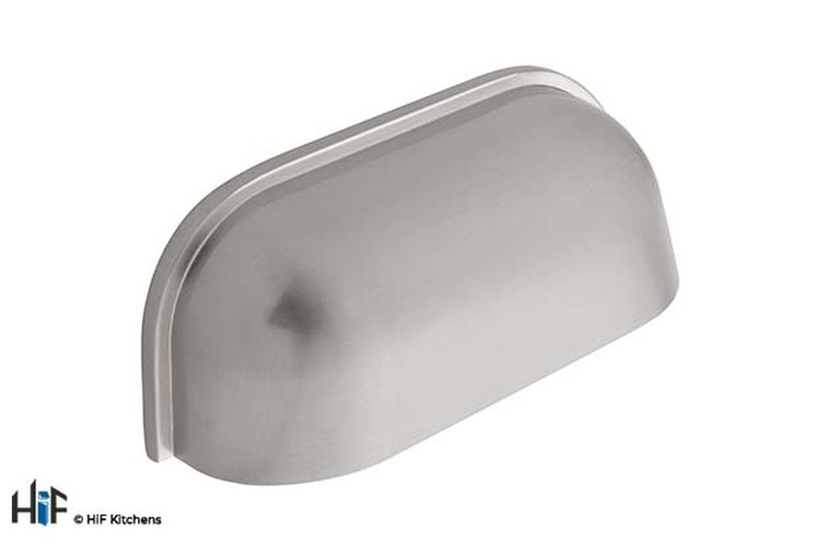 H1027.32.SS Guildford Cup Handle Polished Stainless Steel Effect Image 1