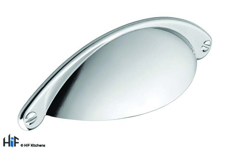 H1092.64.CH Kitchen Cup Handle 64mm Chrome Effect Image 1