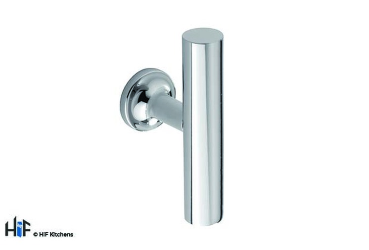 H1120.60.CH Kitchen T-Bar 60mm Wide Chrome Finish Image 1