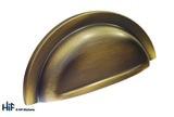 H1127.76.BR Cup Handle With Lip Detail Antique Bronze Image 1 Thumbnail