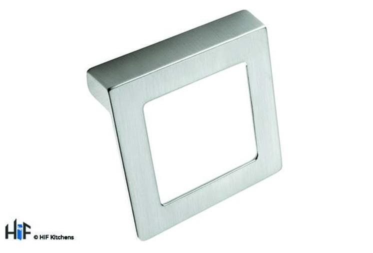 H425.32.BS Square Handle Die-Cast Brushed Steel Image 1