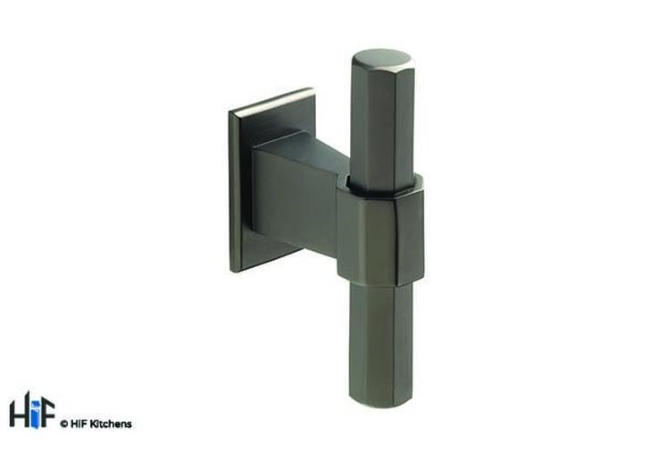 H995.68.BS Hexagonal T-Bar 68mm Length Black Satin Image 1
