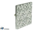 K1039.32.DN Square Knob 32mm Die-Cast Dull Nickel Mosaic Finish Image 1 Thumbnail